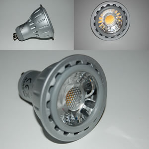 GU10 power LED lamp cobverlichting cob spots 6 watt 2800 K