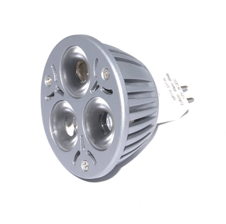 MR16 Powerled Dimbare 3x1W Power LED Spot 3 watt Warm wit orgineel Edison